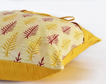 Decorative Pillow Covers for Couch/ Mustard yellow pillow covers/ Yellow cushion/ Wanderlust décor/ Living room décor/ Boho Novelty Pillow