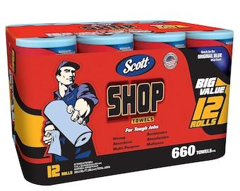 Scott Blue Shop Towels (12 rolls)