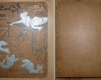 old postcard album with 108 British postcards