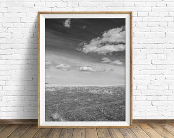 """landscape photography, large landscape art, instant download printable art, digital download art, black and white - """"Anything is Possible"""""""