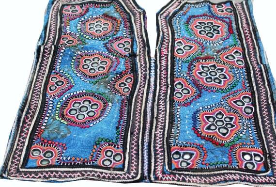 Vintage banjara hand embroidered neck yoke old fabric to