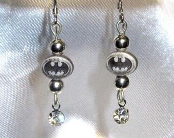 Batman Earrings - Batgirl Earrings - Gold or Silver