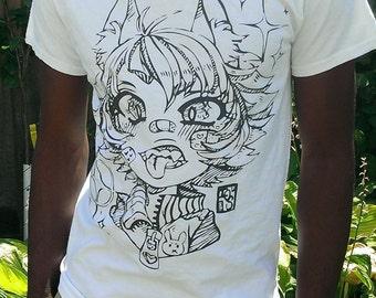 Cat girl T shirt