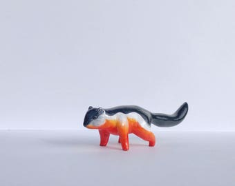 Prevost Squirrel Polymer Clay Figurine