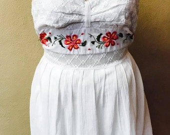 Medium Adult Embroidered Dress from Mexican Craftsmen/ Handmade Mexican Embroidery, Ethnic Dress,Mexican Dress