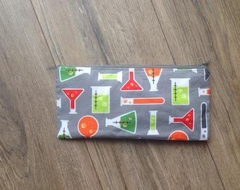 Test tube / chemistry pencil case, chemistry gift, science gift, teacher gift, test tube print, academic gift, academic pencil case