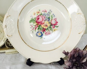 Charming Royal Tudor Ware Barker Brothers Cake Plate/Bread Plate