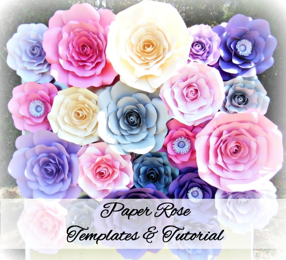 Paper Flower Wall Template: DIY Giant Rose Templates, Paper Rose Patterns & Tutorials