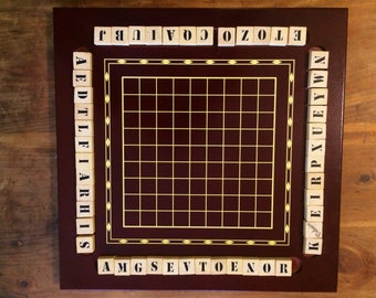 Wood Voltaire boardgame, word game, single player