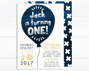 1st Birthday Invitation Boy | Boy Birthday Invitation | Digital Invitations | 2nd Birthday Invite
