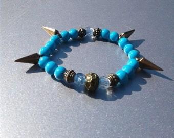 Women's Blue Spike bracelet