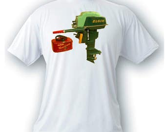 Vintage Elgin outboard motor t-shirt boating
