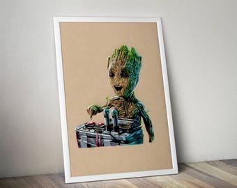 Baby Groot - Fine Art Print - A4
