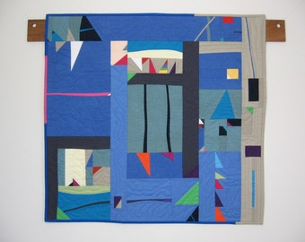Published in Gwen Marston & Cathy Jones, Free Range Triangle Quilts: Art Quilt in the Liberated Style by pam beal