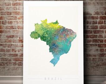 Brazil map Etsy