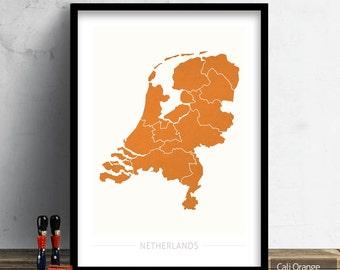 Netherlands map  Etsy