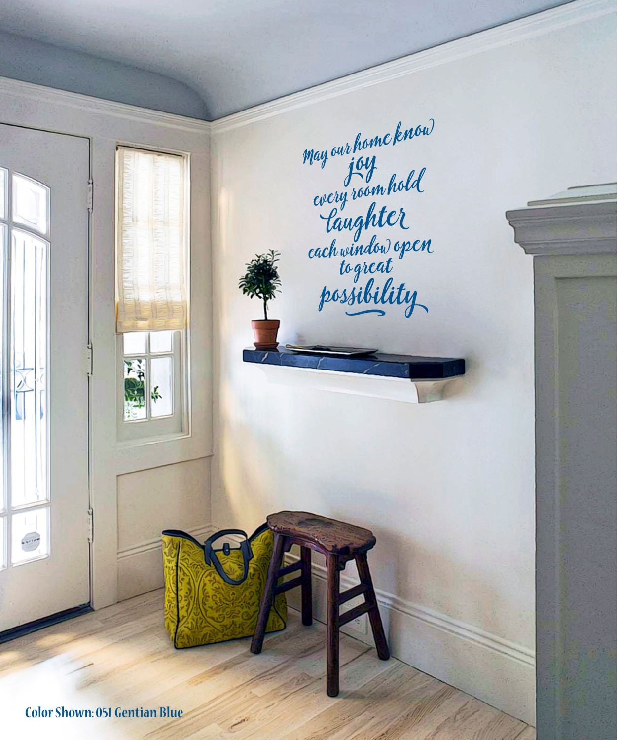 May Our Home Know Joy Vinyl Wall Quotes Wall Quote Decal - Custom vinyl wall decals sayings for family roomitems similar to entry wall quote family wall decals home family