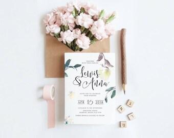 Wedding Invitation RSVP Set - Floral Blooms