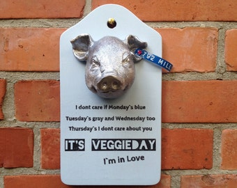 Mess Veggieday vegan Veggie vegetables the cure pork meat vegetables meat industry factory farming organic eco