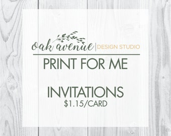 Invitation Print Package with Shipping