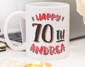 Birthday mug, a custom gift for birthday with personalized age and name!