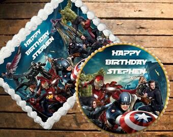Avengers Edible Cake Topper