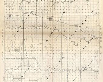 Trego County Kansas Map