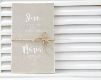 Personalized gift Wooden sign for birth