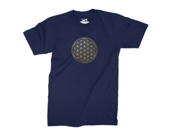 Flower of Life Mens T-Shirt - Sacred Geometry Top
