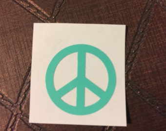 Peace sign decal, Peace sign sticker, vinyl decal