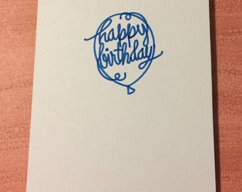 Birthday card w/ envelope, set of 5 cards