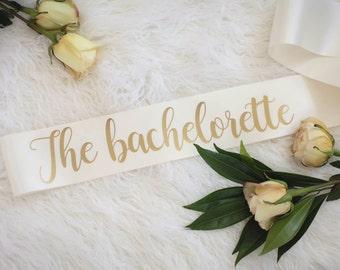Bride sash, Future MRS. sash, Bachelorette sash, bridal shower gift, THE BACHELORETTE