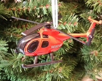 Custom Rescue Helicopter Christmas Ornament Free Shipping Happy Holidays L@@k