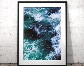 Ocean Print, Ocean Wall Art, Ocean Waves Print, Ocean Photography, Beach Decor, Ocean Art, Printable Art, Sea Print, Ocean Printable, Waves