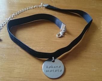 Hakuna matata choker necklace