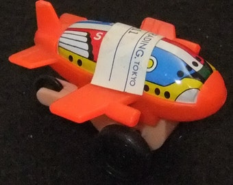 Plane Tinplate and plastic friction toy vintage c1960s toy made in Japan
