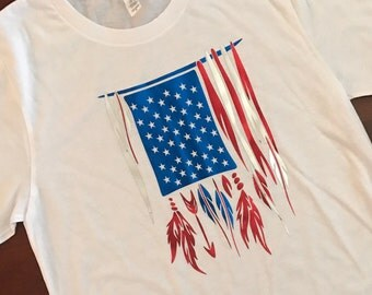 American Flag 2 Soft Shirt with Foil