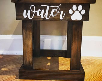 Single bowl elevated dog bowl stand / pet feeder / raised dish stand / water bowl