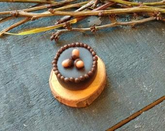 Handmade Miniature Chocolate Gateau