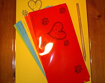 "Set: stationery ""Affair of the heart"" (color assorted)"