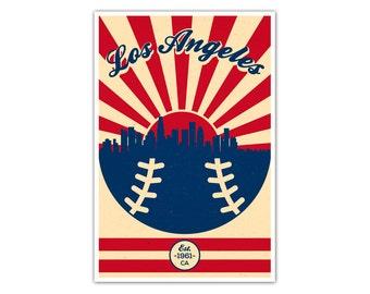 Los Angeles Baseball Vintage Poster
