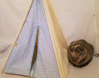 Pet teepee/cats teepee/dog teepee/with carry bag and bedding/gift/pet