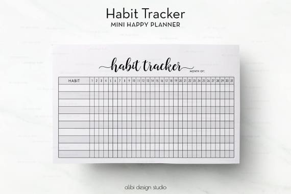 habit tracker mini happy planner daily habits habit tracker