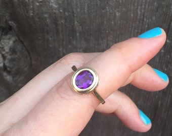 Sweet Amethyst and 10k gold ring