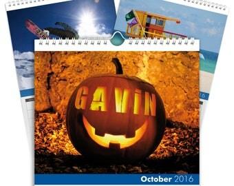 Personalised Seasons Calendar - A3