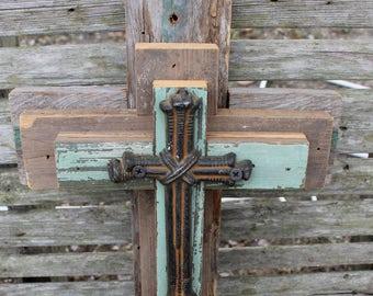 Rustic cross, decorative crosses, cross wall decor, unique wall cross, reclaimed wood, wooden cross, decorative wall cross, wall cross