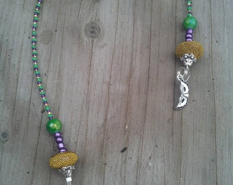 Mardi Gras Beaded Bookmark, Book Thong, Book Lover Gift, Unique Bookmark, Book Bling, Christmas Gifts, Gifts for Her, Gifts for Him, Reader