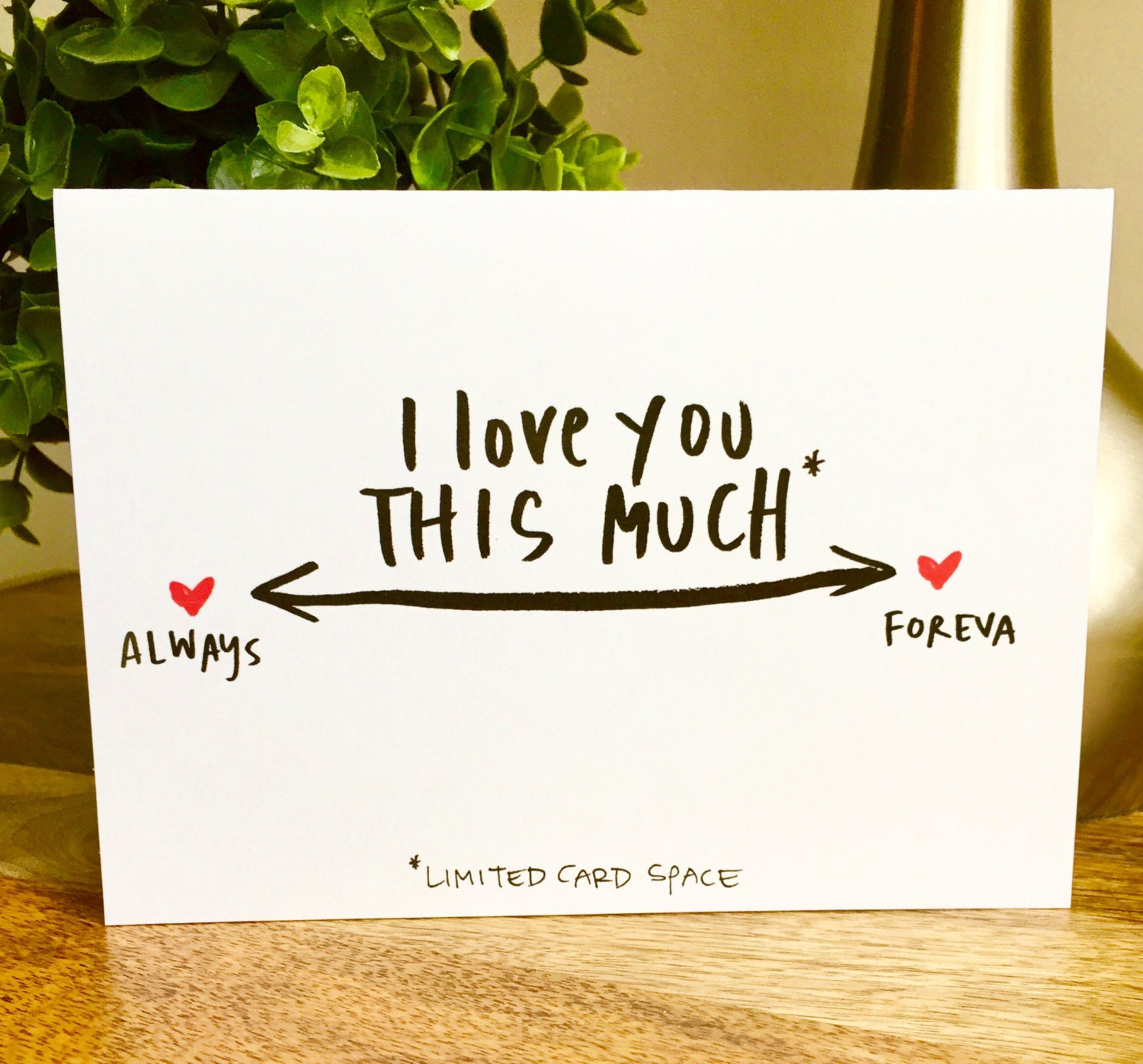 I love you this much card always and forever