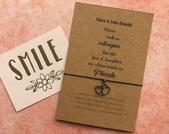 Make a Wish Bracelet / Charm Bracelet - Chance Made Us Colleagues