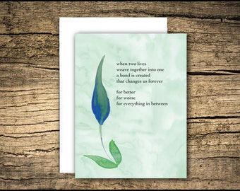 loss of spouse (husband or wife) - sympathy card, grief card, bereavement card